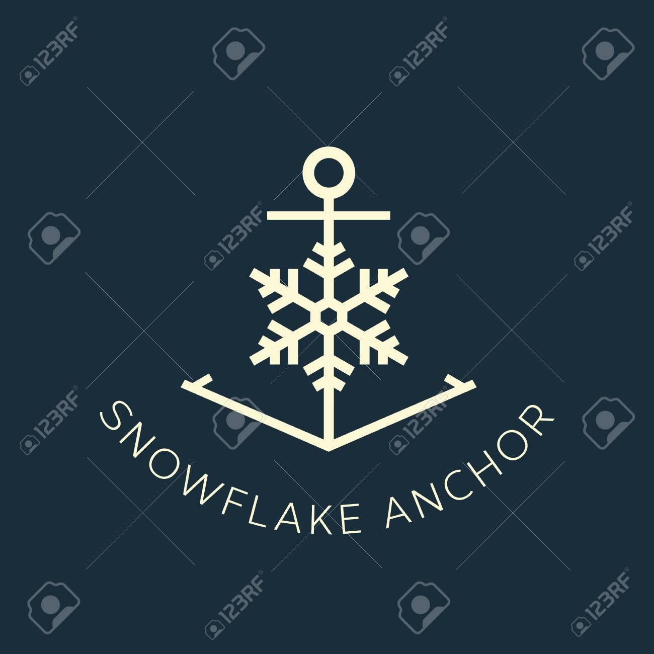 Snowflake anchor concept symbol icon or logo template royalty free snowflake anchor concept symbol icon or logo template stock vector 30973216 biocorpaavc Choice Image