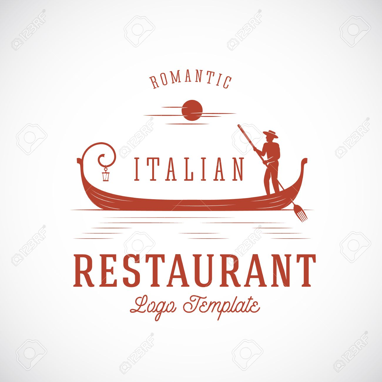 Italian Restaurant Abstract Vector Concept Logo Template Isolated Royalty Free Cliparts Vectors And Stock Illustration Image 44486010