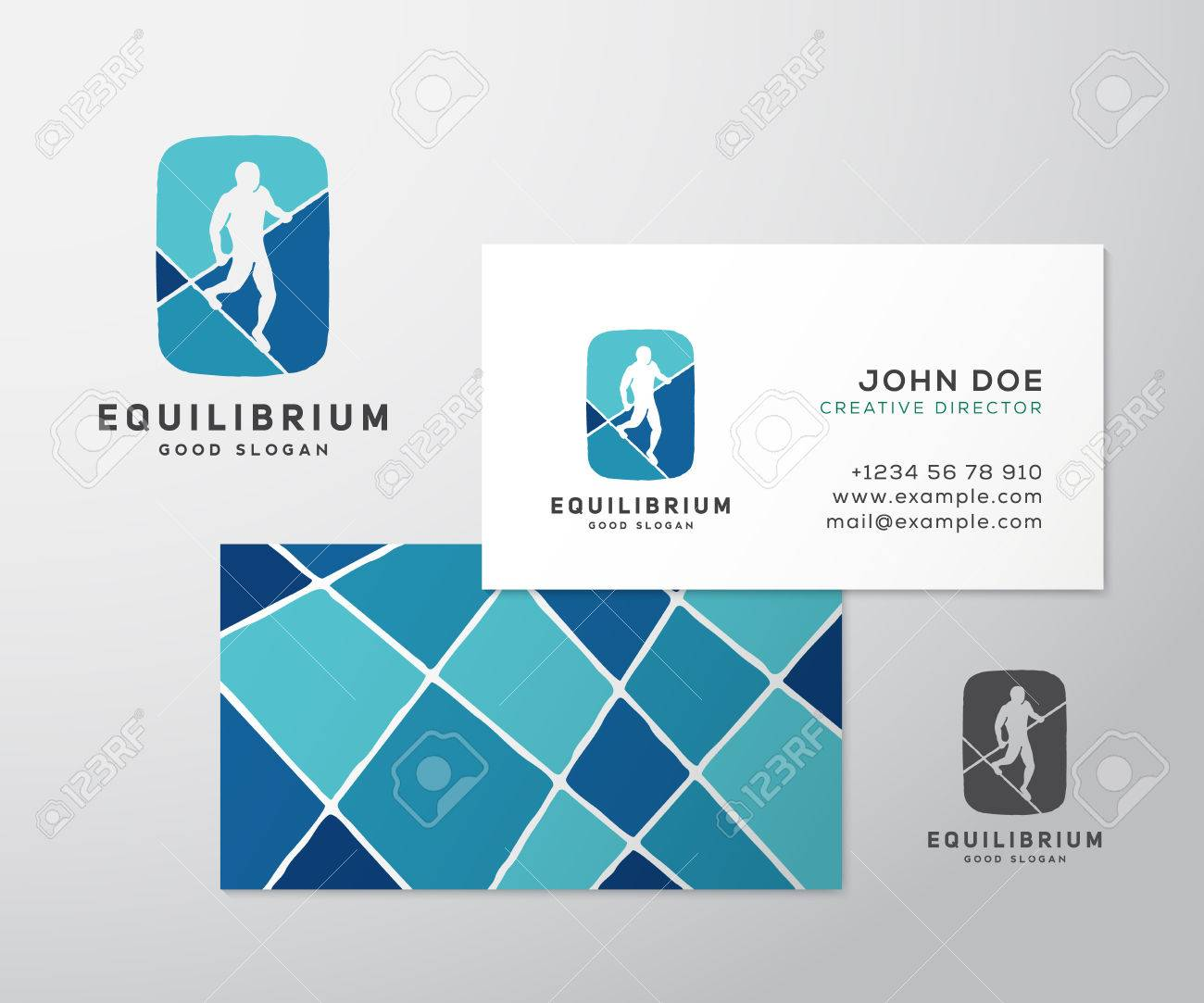 Equilibrist Or A Tightrope Walker Abstract Vector Sign, Logo ...
