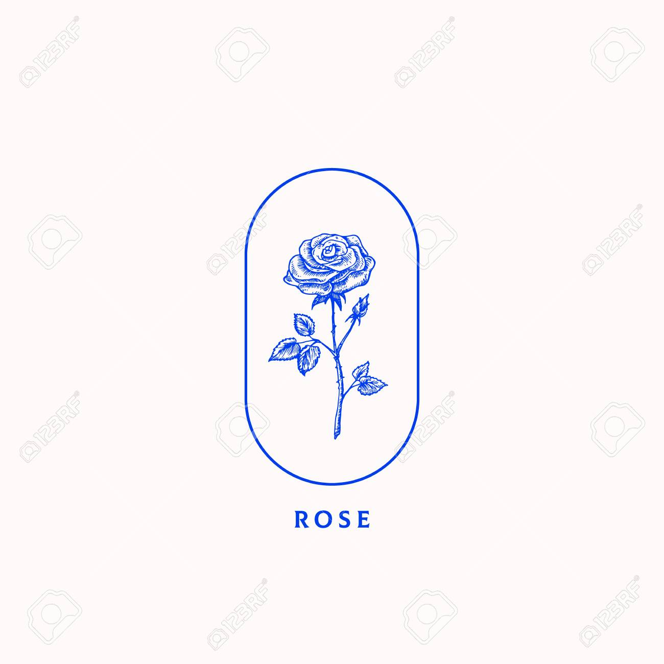 Abstract Vector Sign Symbol Or Logo Template Blossom Rose With Royalty Free Cliparts Vectors And Stock Illustration Image 106053392
