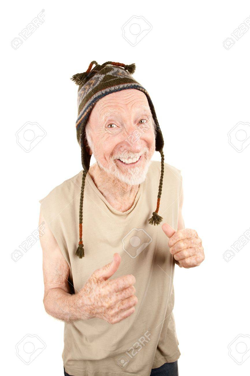 Senior man with pleasant expression wearing knit cap Stock Photo - 6500963