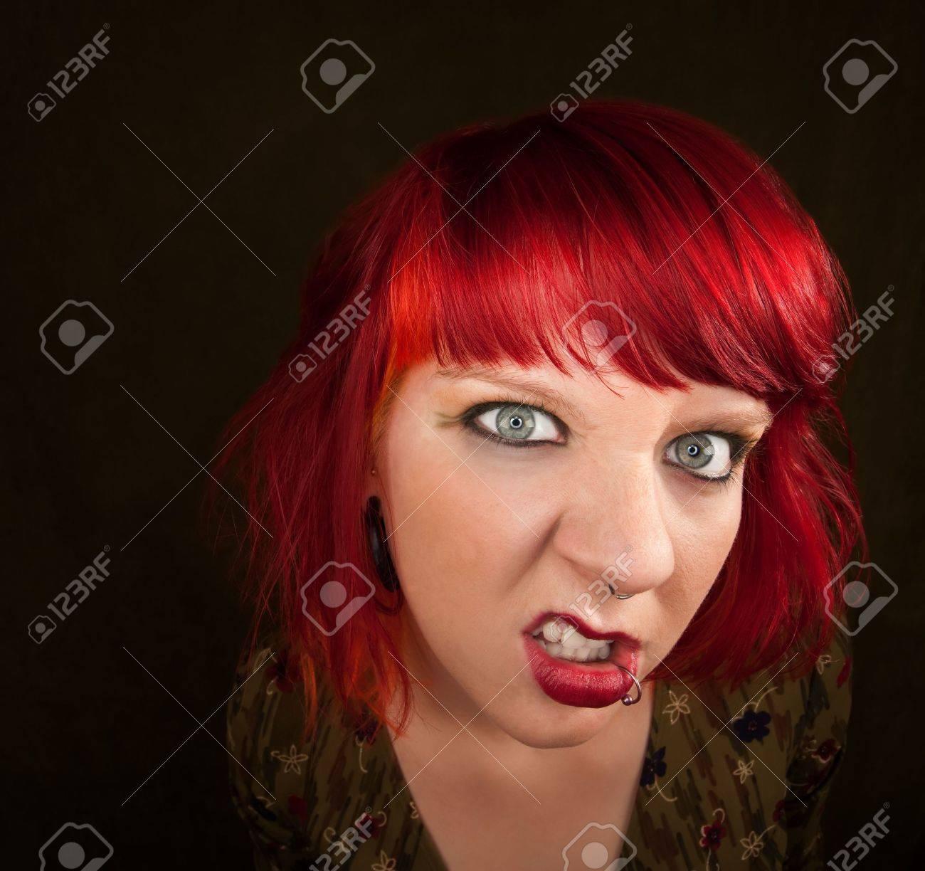 Couleur de cheveux teint rouge