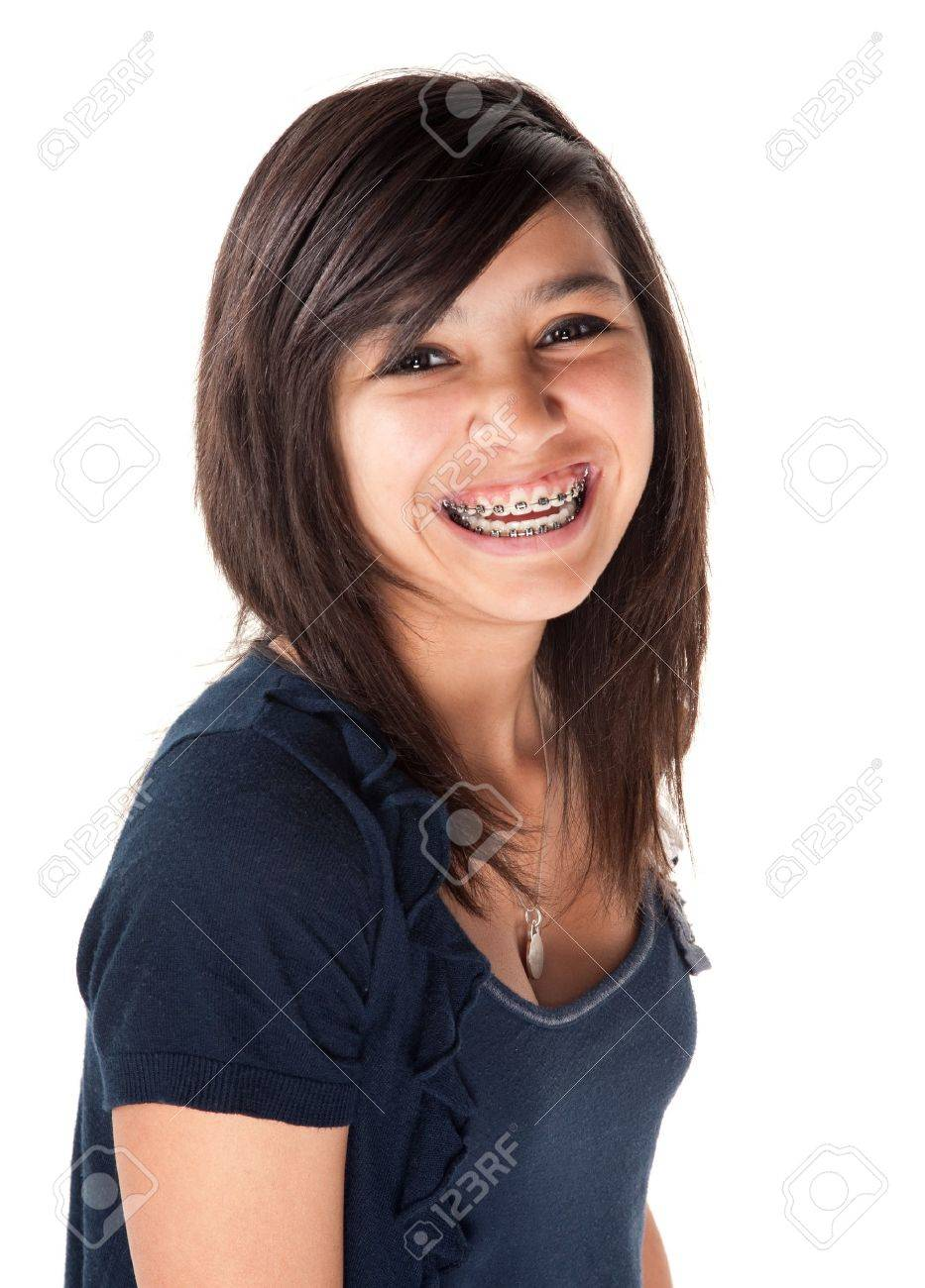 Girls with braces