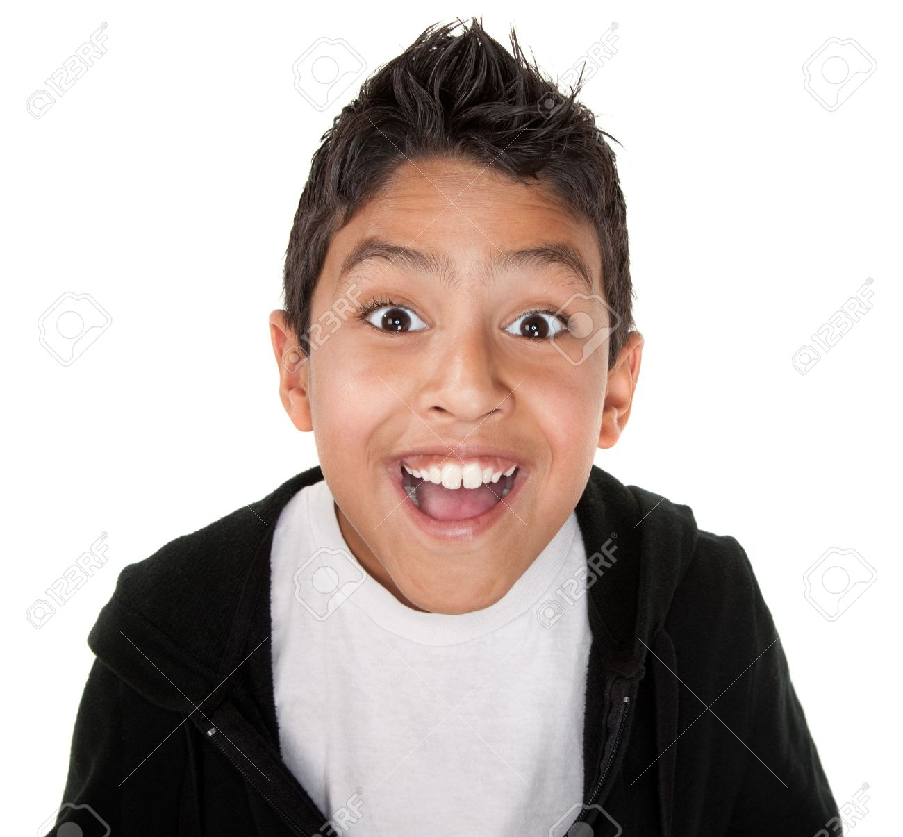 Cute boy with a smile on a white background Stock Photo - 8924339