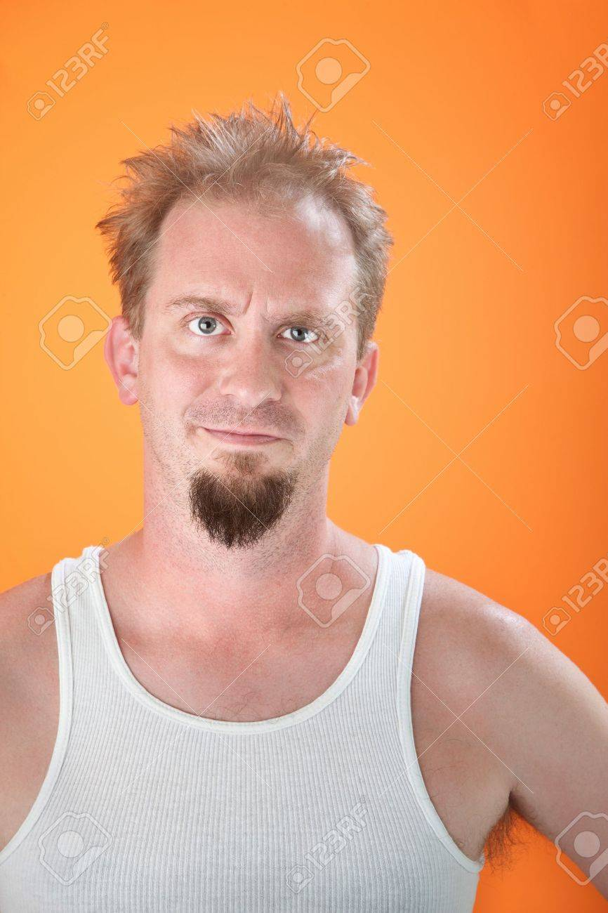 Unhappy and cranky man with a goatee Stock Photo - 8925074