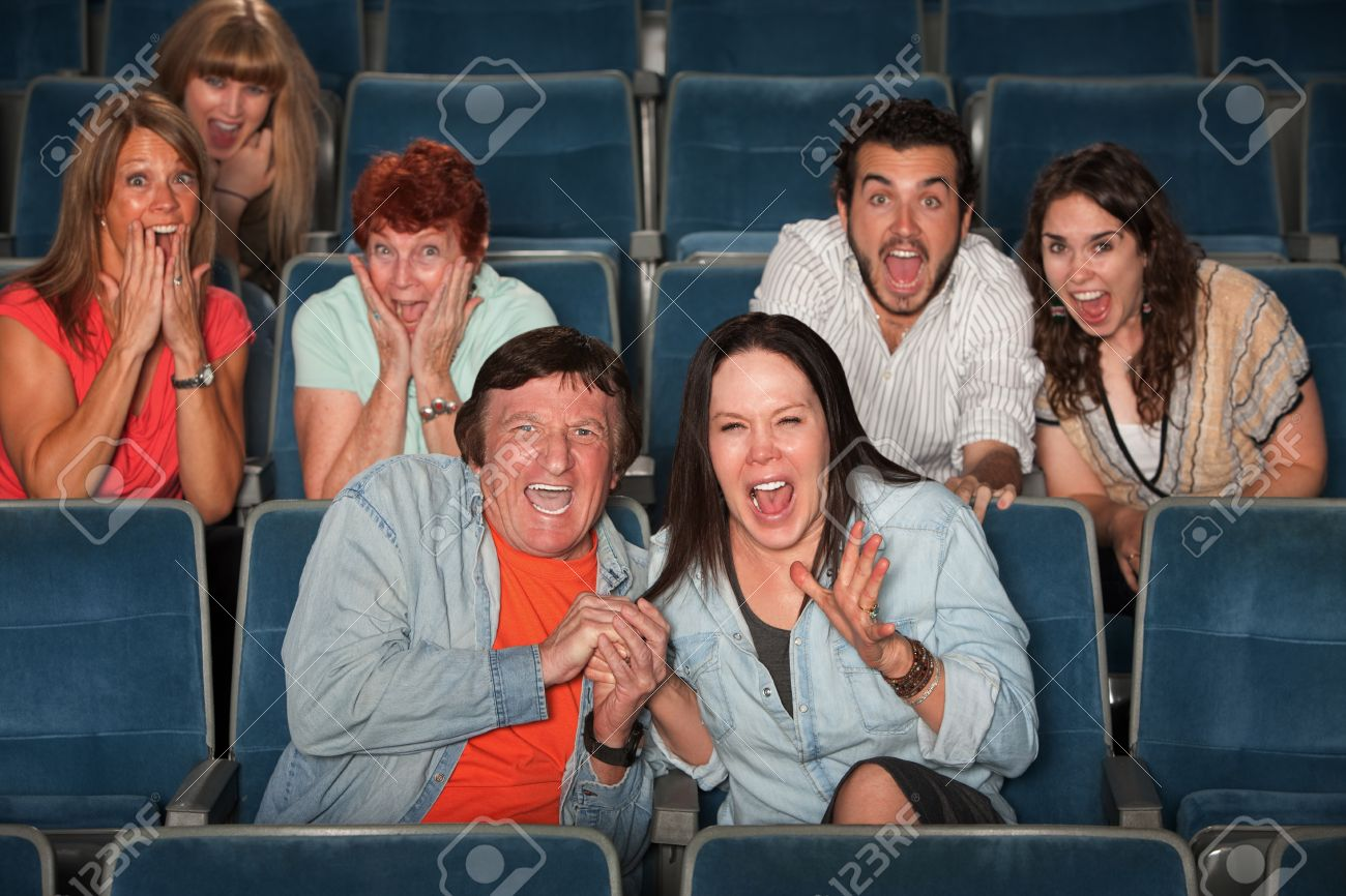 Group of frightened people screaming out in fear Stock Photo - 12638325