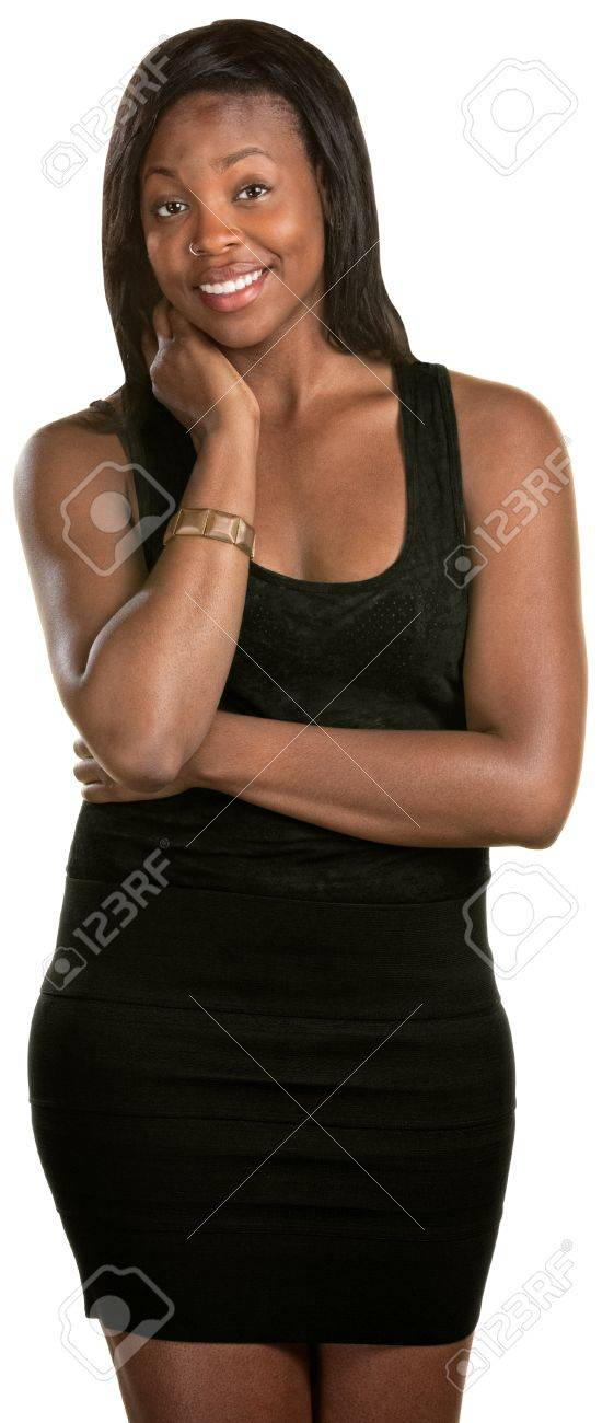 Happy young Black woman over isolated background Stock Photo - 14738046