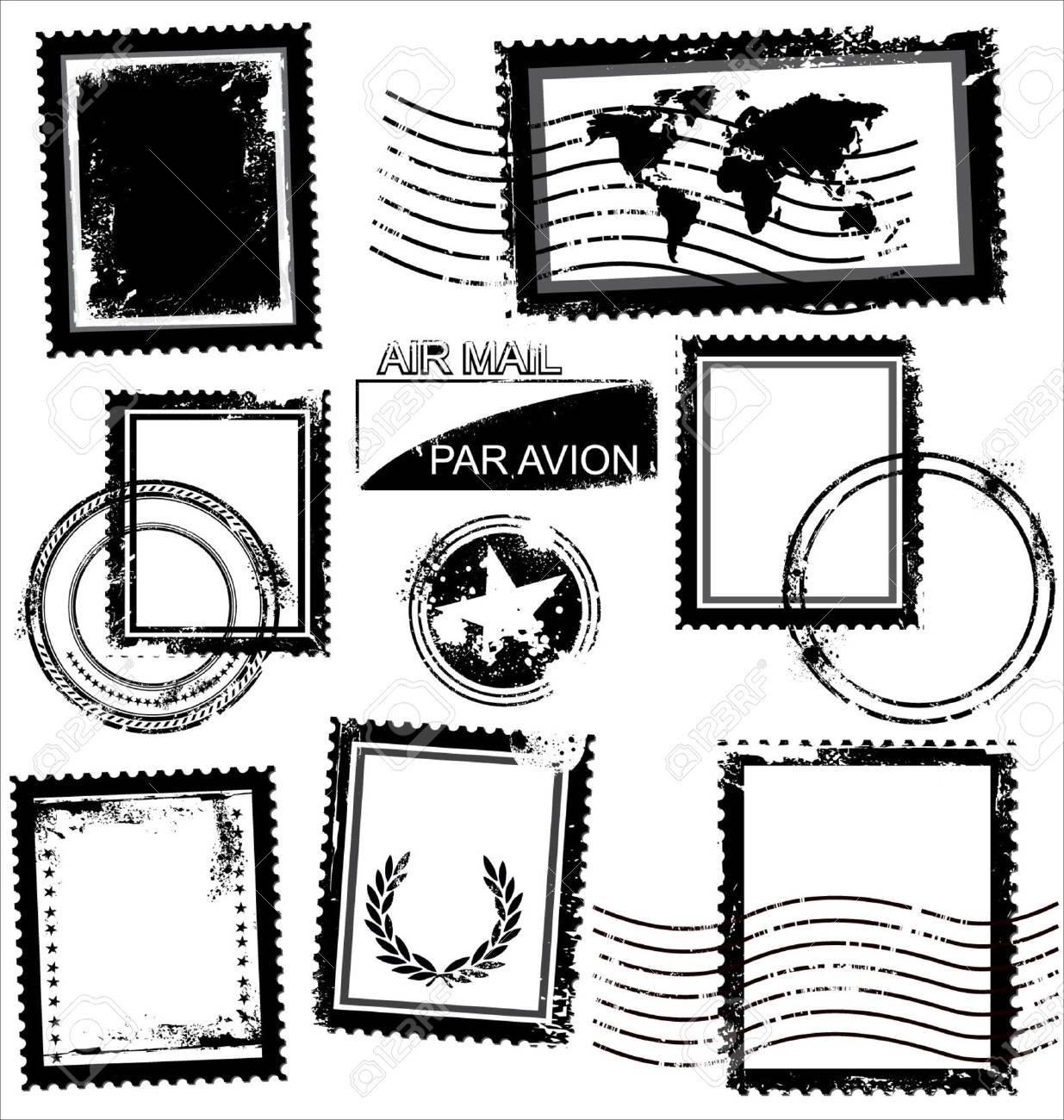 Blank Grunge Postage - 9746773