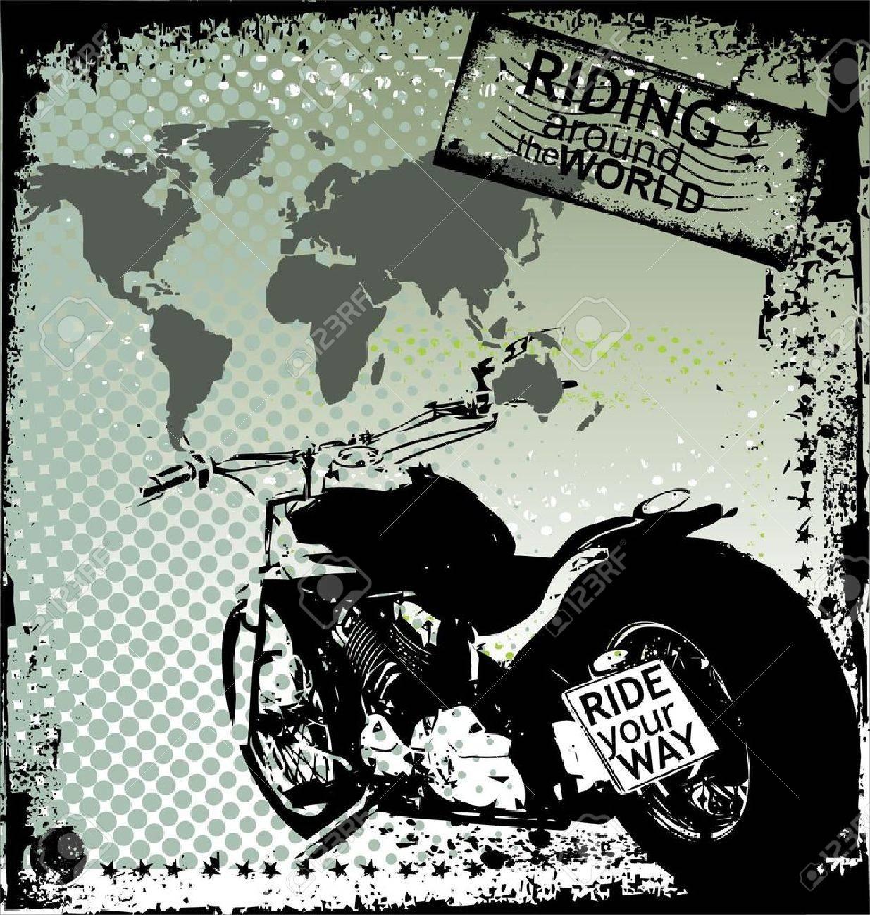 Riding Around The World Stock Vector - 9746747
