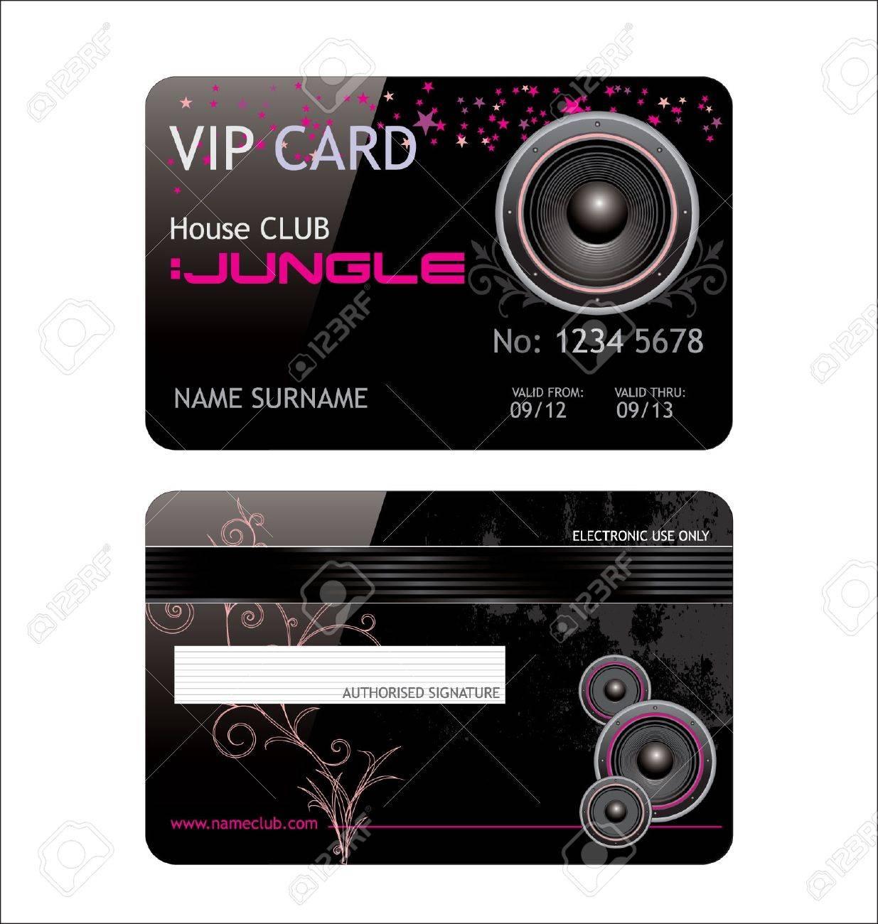 elegant vip music club card Stock Vector - 9746811