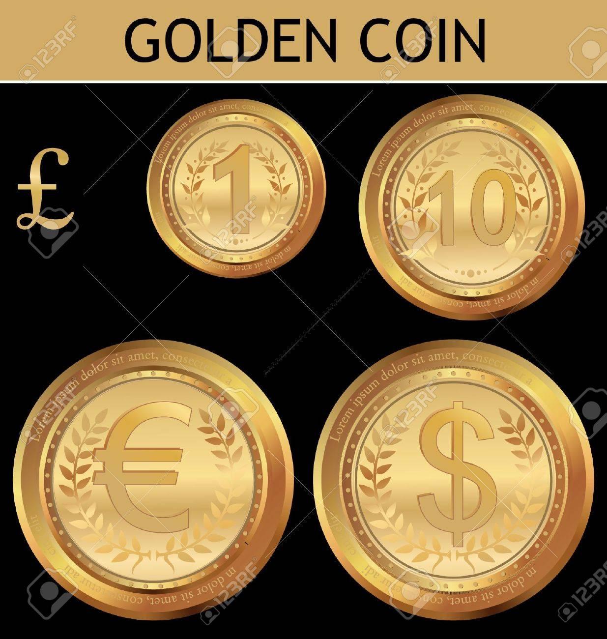 Golden  Coin Stock Vector - 9746838