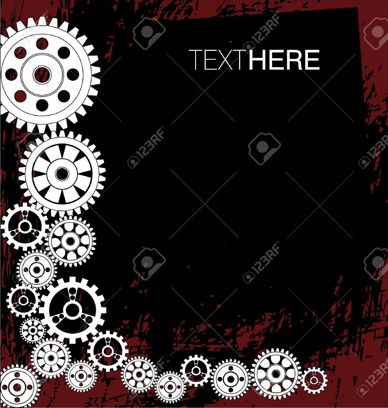 abstract gears background Stock Vector - 9946124