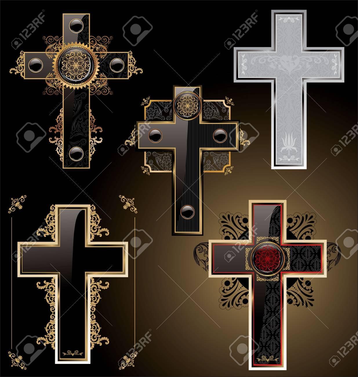 Elegant crosses - set Stock Vector - 10795968