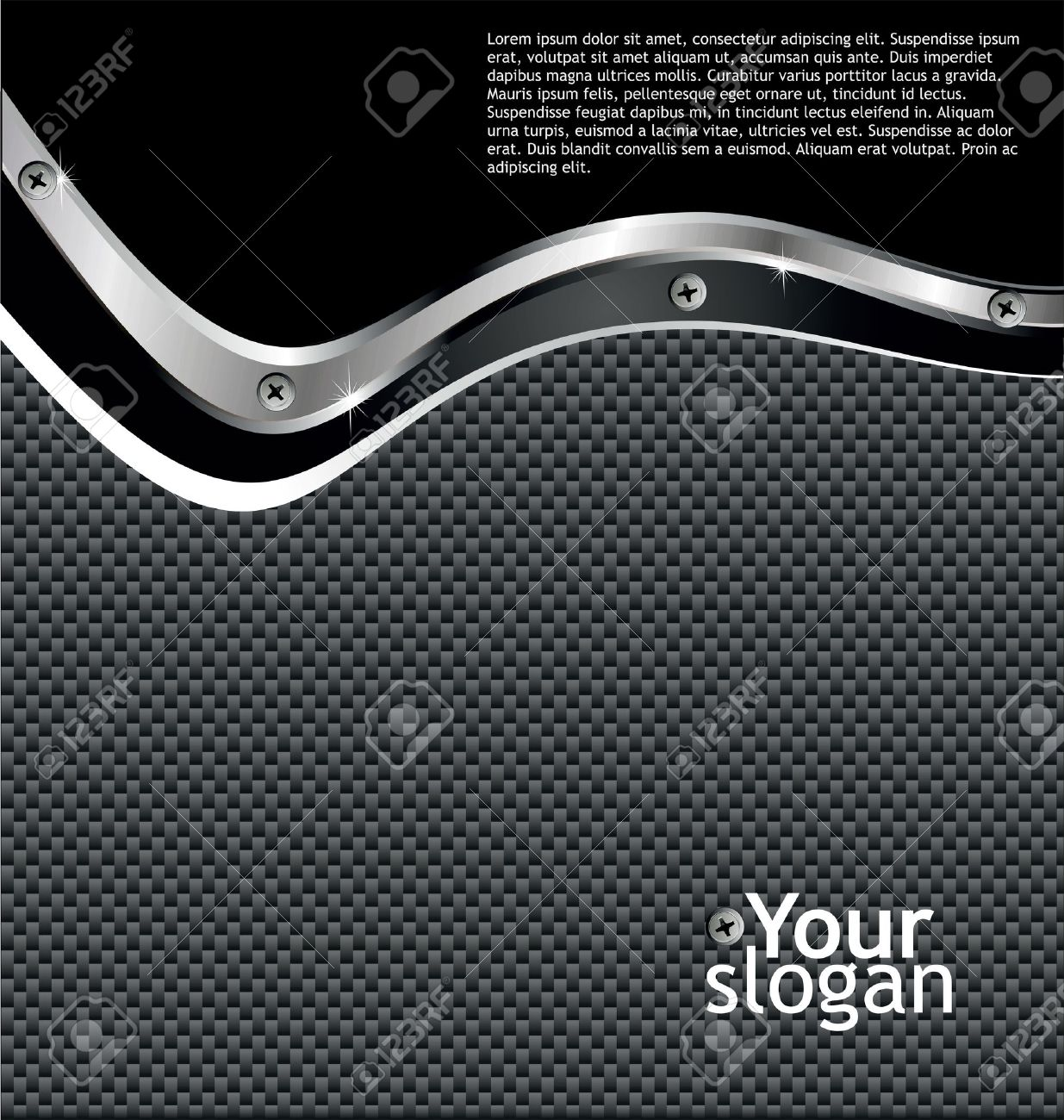 Metal carbon fiber glossy Background Stock Vector - 11094793
