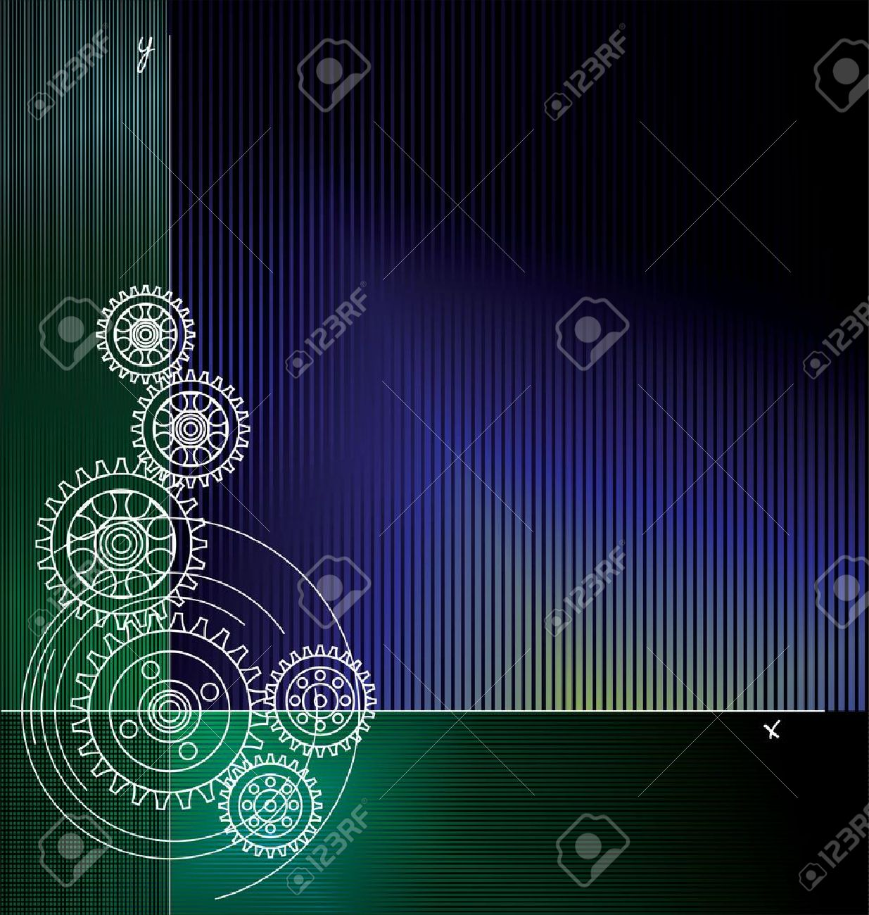 Abstract gears background Stock Vector - 11568938