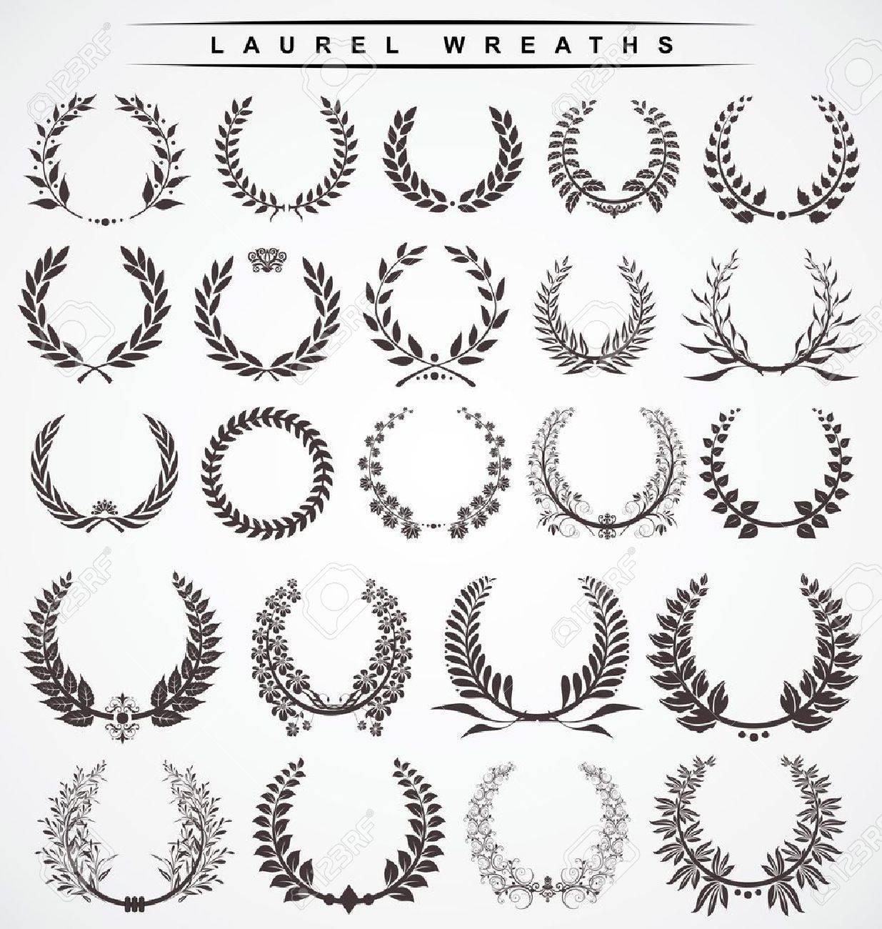laurel wreaths Stock Vector - 11765737