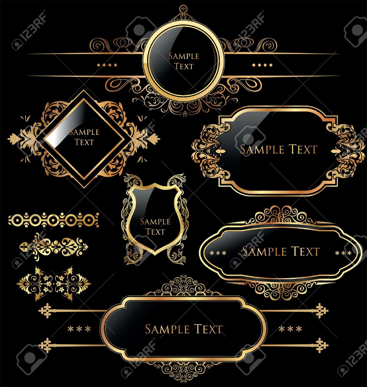Luxurious Stock Vector Illustration And Royalty Free