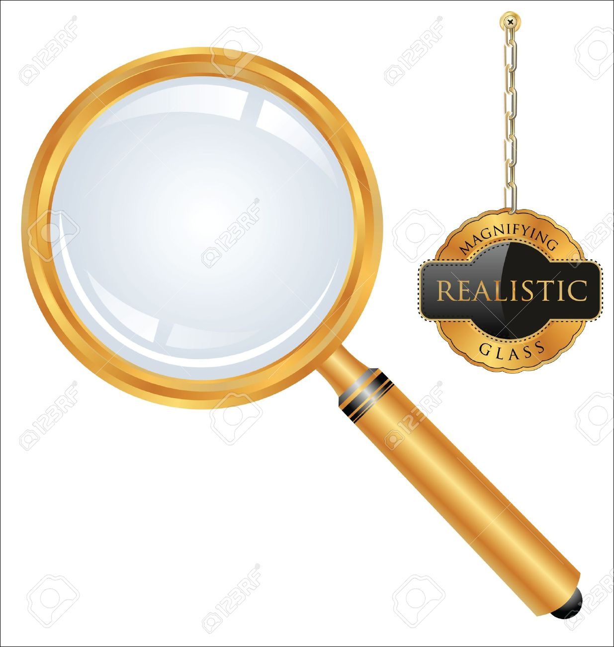Magnifying glass Stock Vector - 12868411