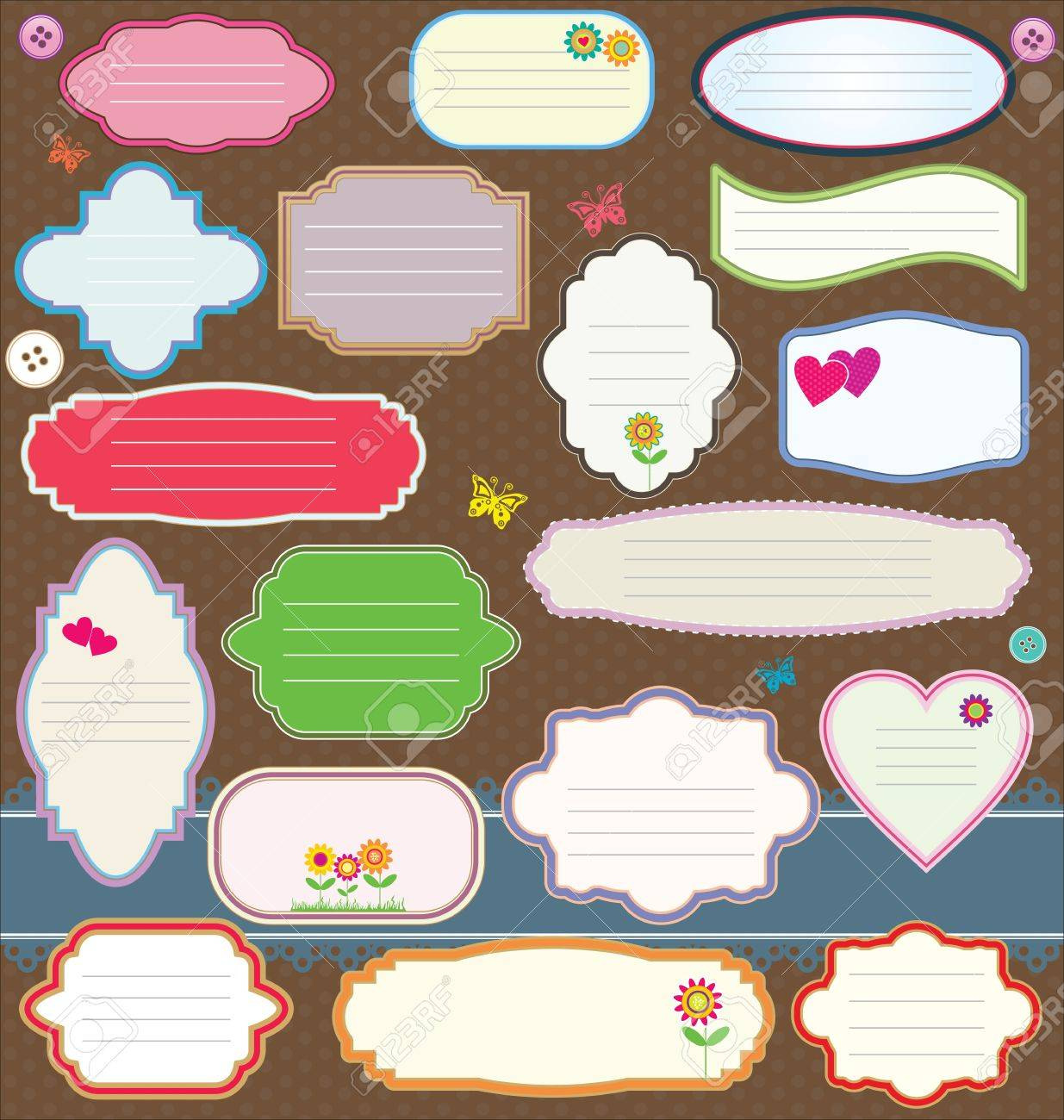 Gift Tag And Sticker Royalty Free Cliparts, Vectors, And Stock