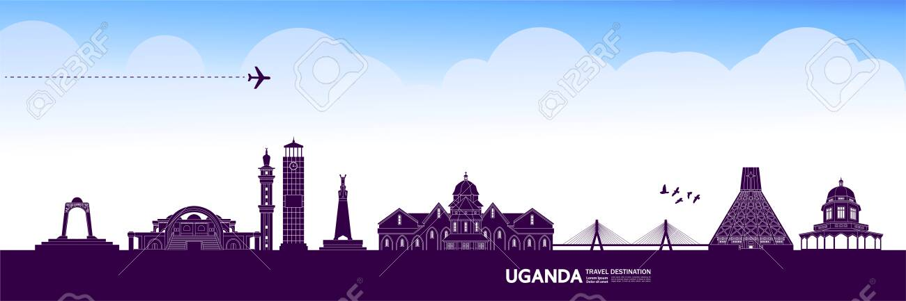 Uganda travel destination grand vector illustration. - 141613457