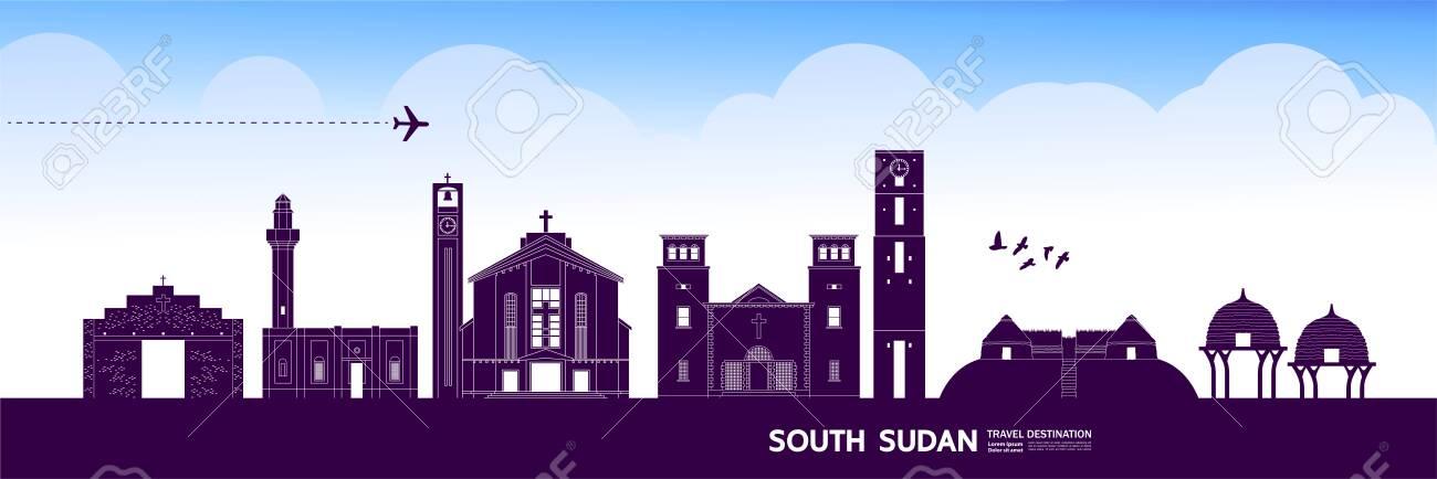 South Sudan travel destination grand vector illustration. - 143491517