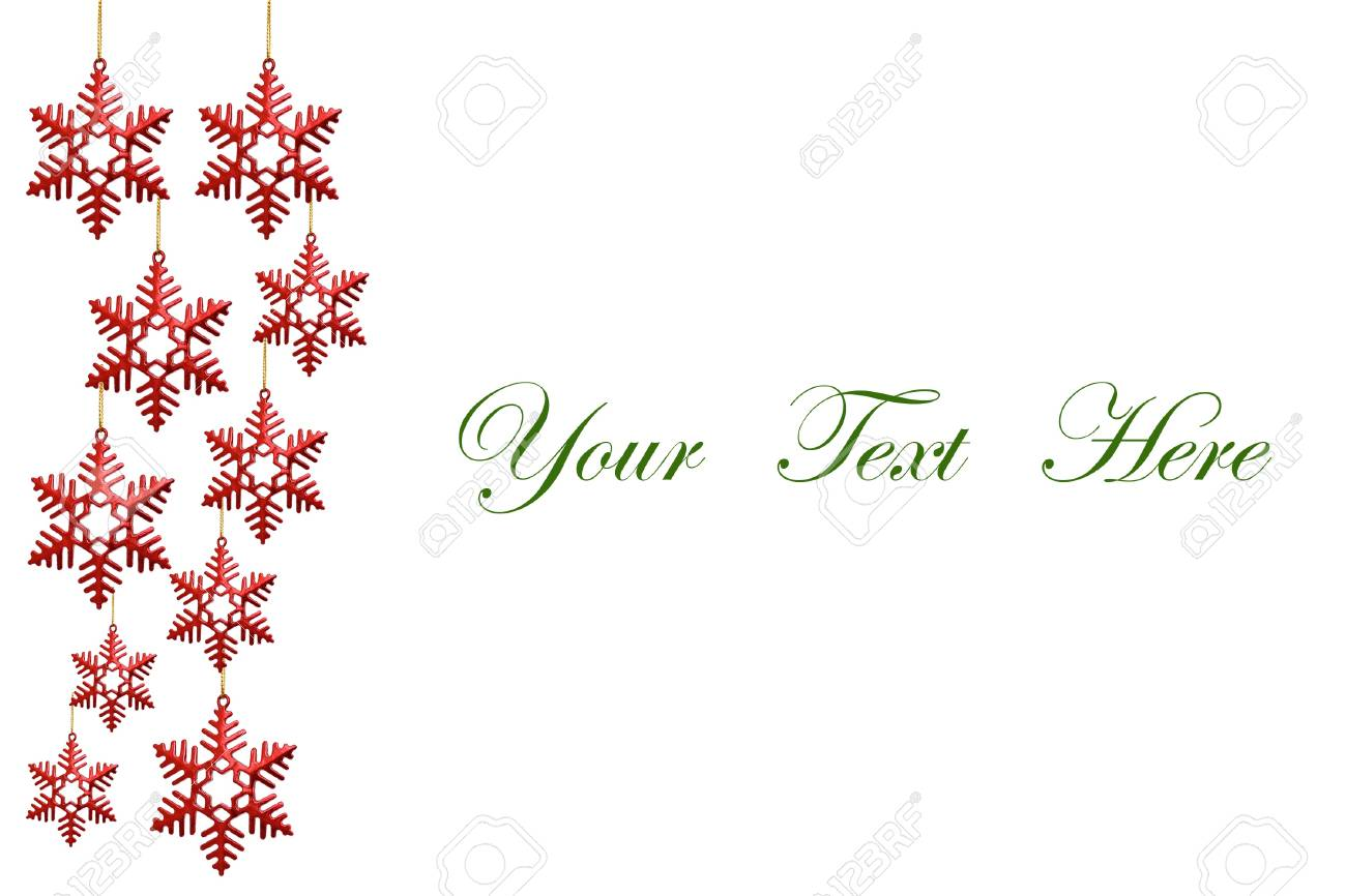 snowflakes decorations isolated on white background for message Stock Photo - 10607503