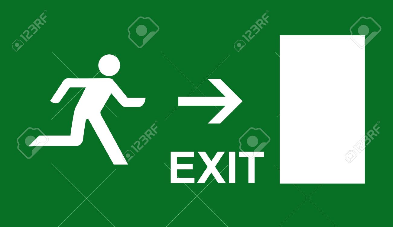 emergency exit sign Stock Photo - 10608564