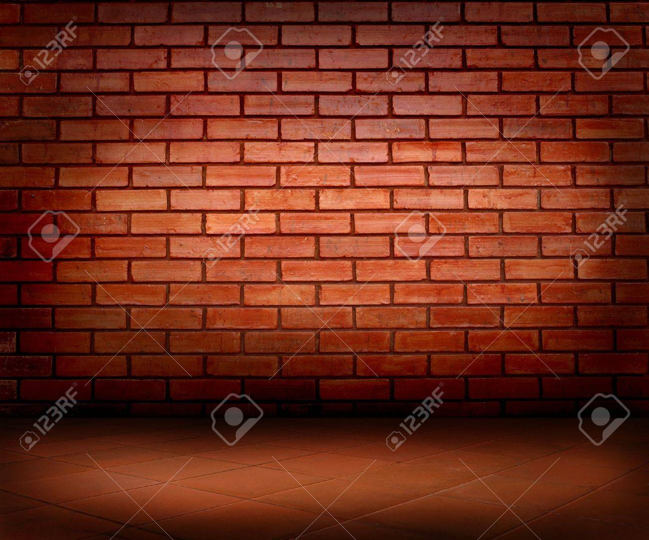 brick wall and floor Stock Photo - 10608867