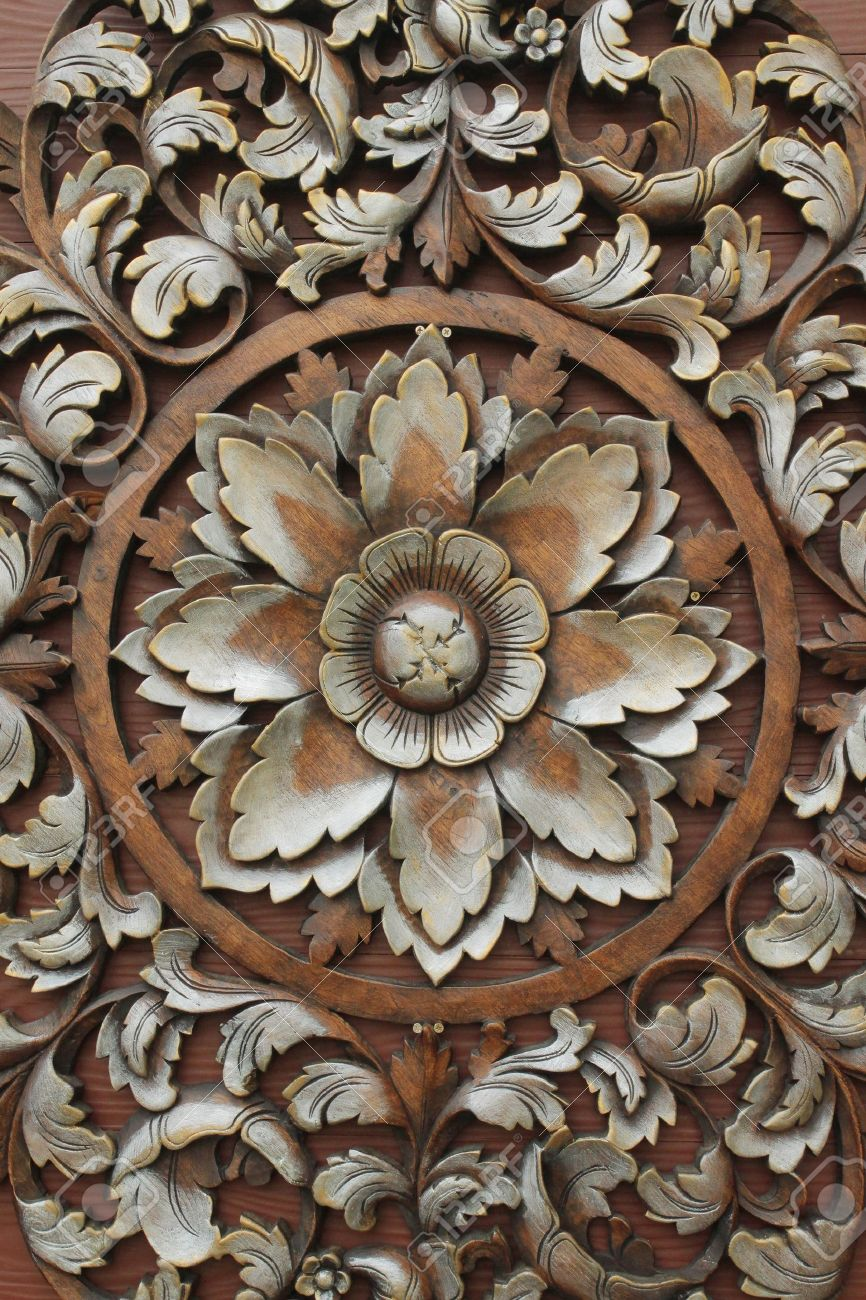 Wood Carving Patterns Stock Photo Picture And Royalty Free Image
