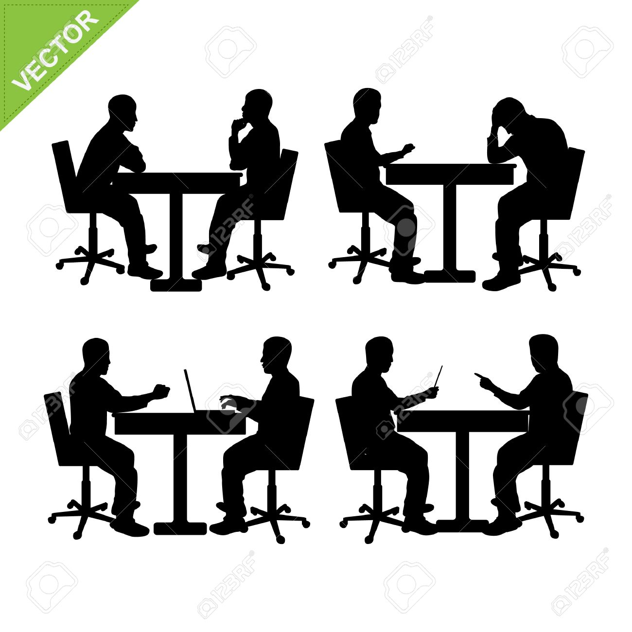Business Man Meeting Silhouette Vector Royalty Free Cliparts ... for Business People Silhouette Png  117dqh