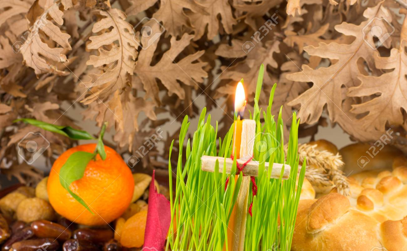 Weihnachten Orthodox.Orthodox Christmas Offerings With Growing Green Wheat