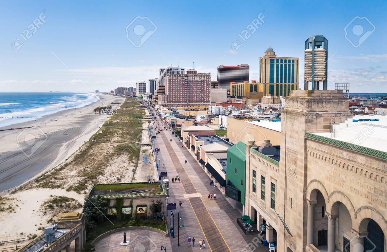 Atlantic City Usa September 20 2017 Atlantic City Boardwalk
