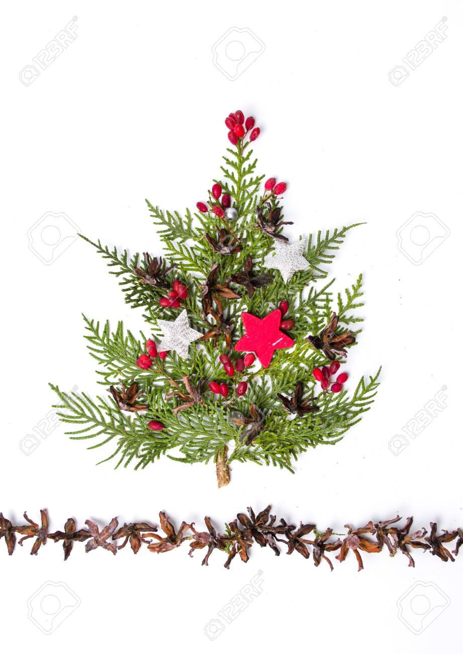 small christmas tree decoration isolated on white background stock photo 91910011 - White Mini Christmas Tree
