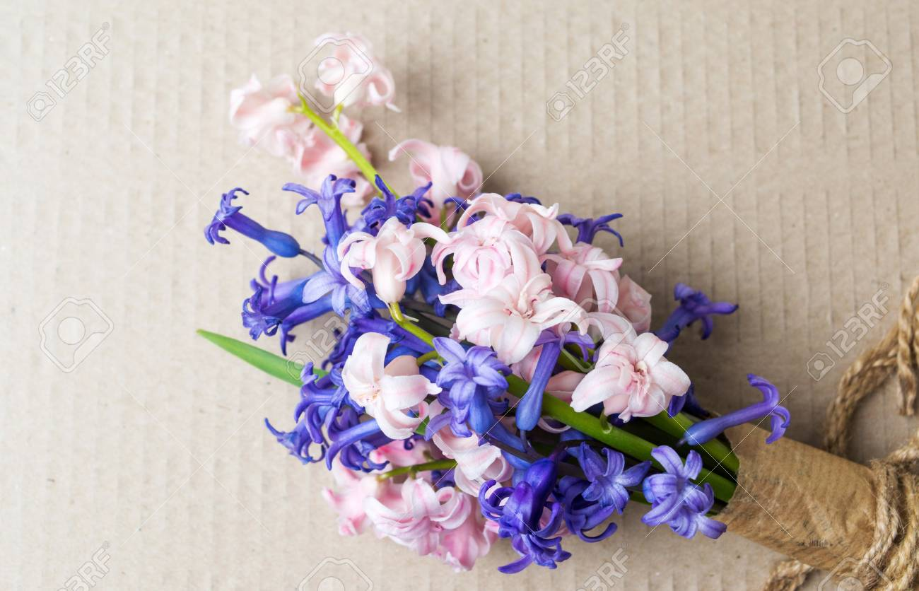 Colorful hyacinth flowers bouquet on a table stock photo picture colorful hyacinth flowers bouquet on a table stock photo 94201150 izmirmasajfo