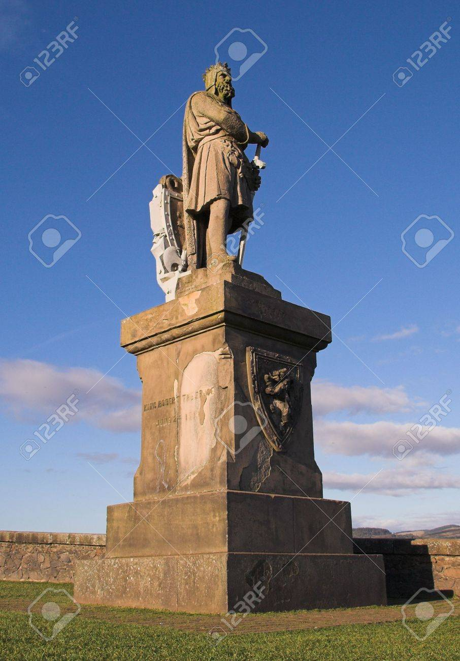 One of Scotland's most celebrated national figures, Robert the Bruce, is immortalised in this monument that stands vigil at the gates of Stirling Castle. Stock Photo - 4409315