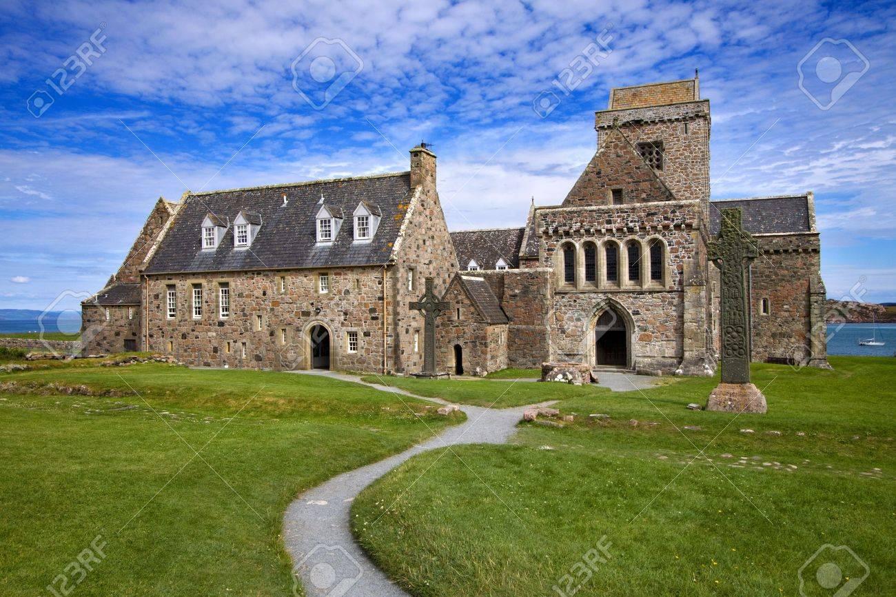 アイオナ修道院スコットランドの西海岸に。 の写真素材・画像素材 ...