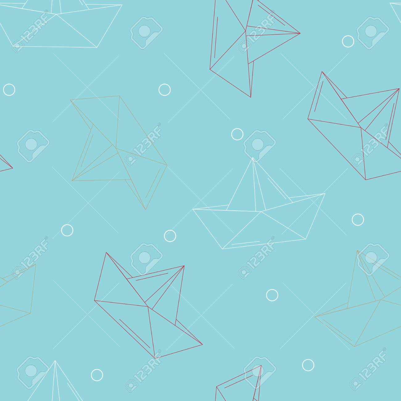 Origami Bateaux Ou Navires Papier Motif Theme Sea Seamless Collection Milieux Vector Illustration Clip Art Libres De Droits Vecteurs Et Illustration Image 56739191