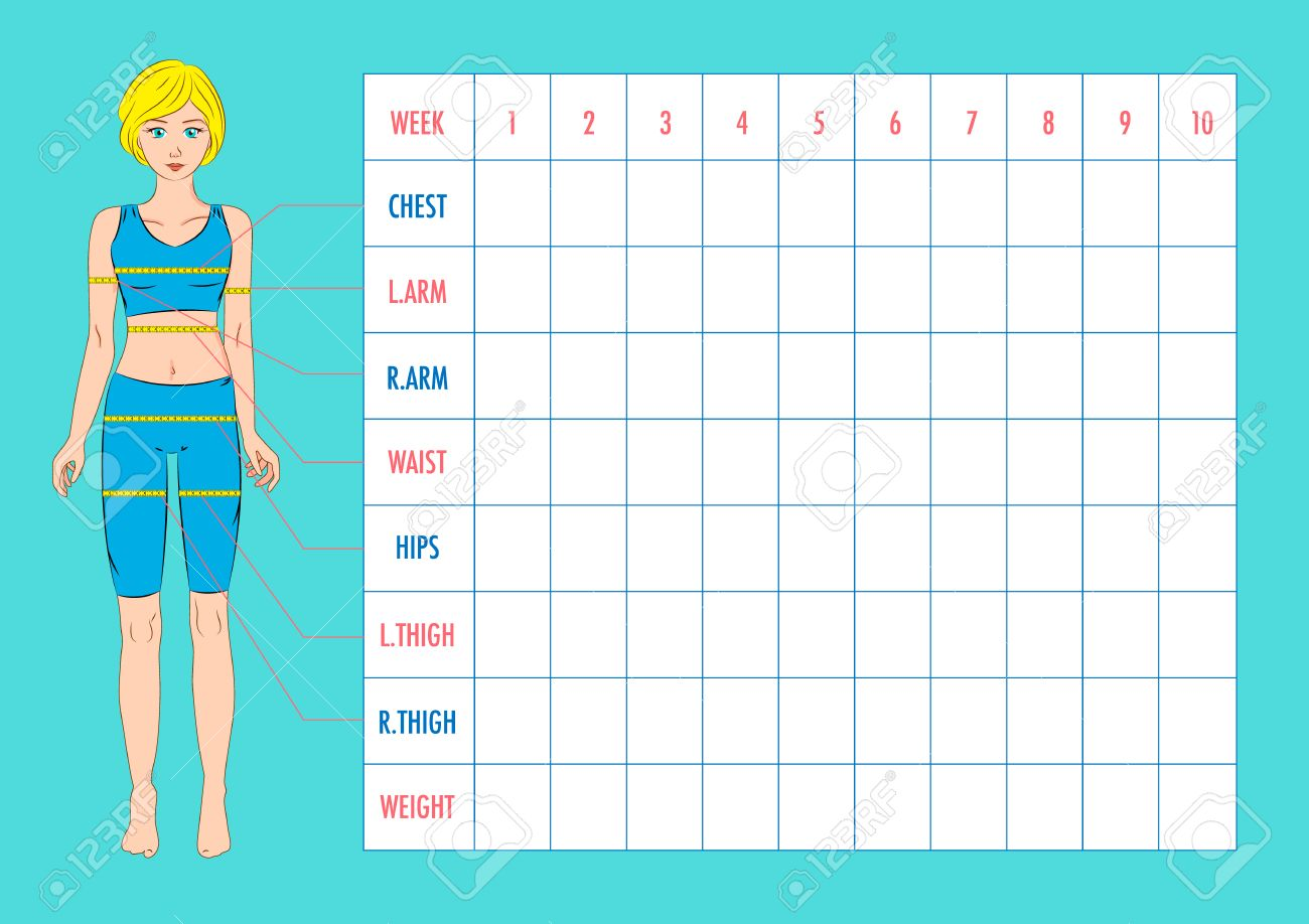 Body measurement tracking chart layout blank weight loss chart body measurement tracking chart layout blank weight loss chart chest waist hips nvjuhfo Choice Image