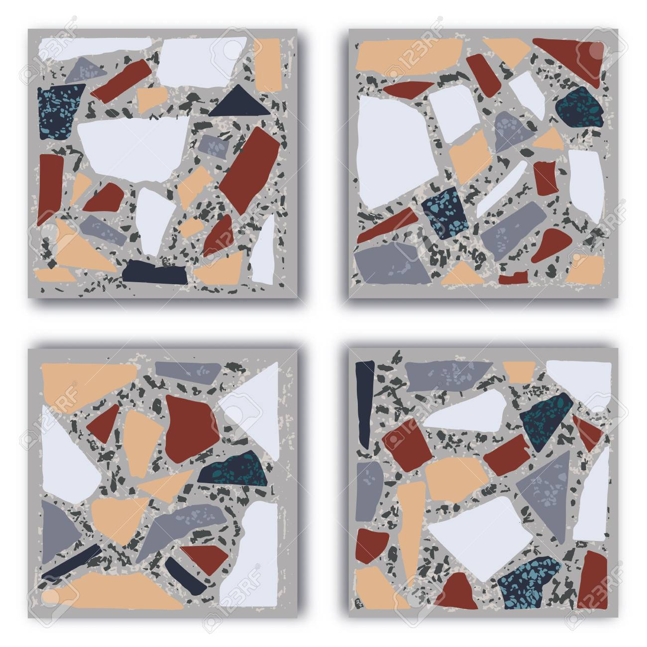 Terrazzo Floor Marble Hand Crafted Tile Traditional Venetian