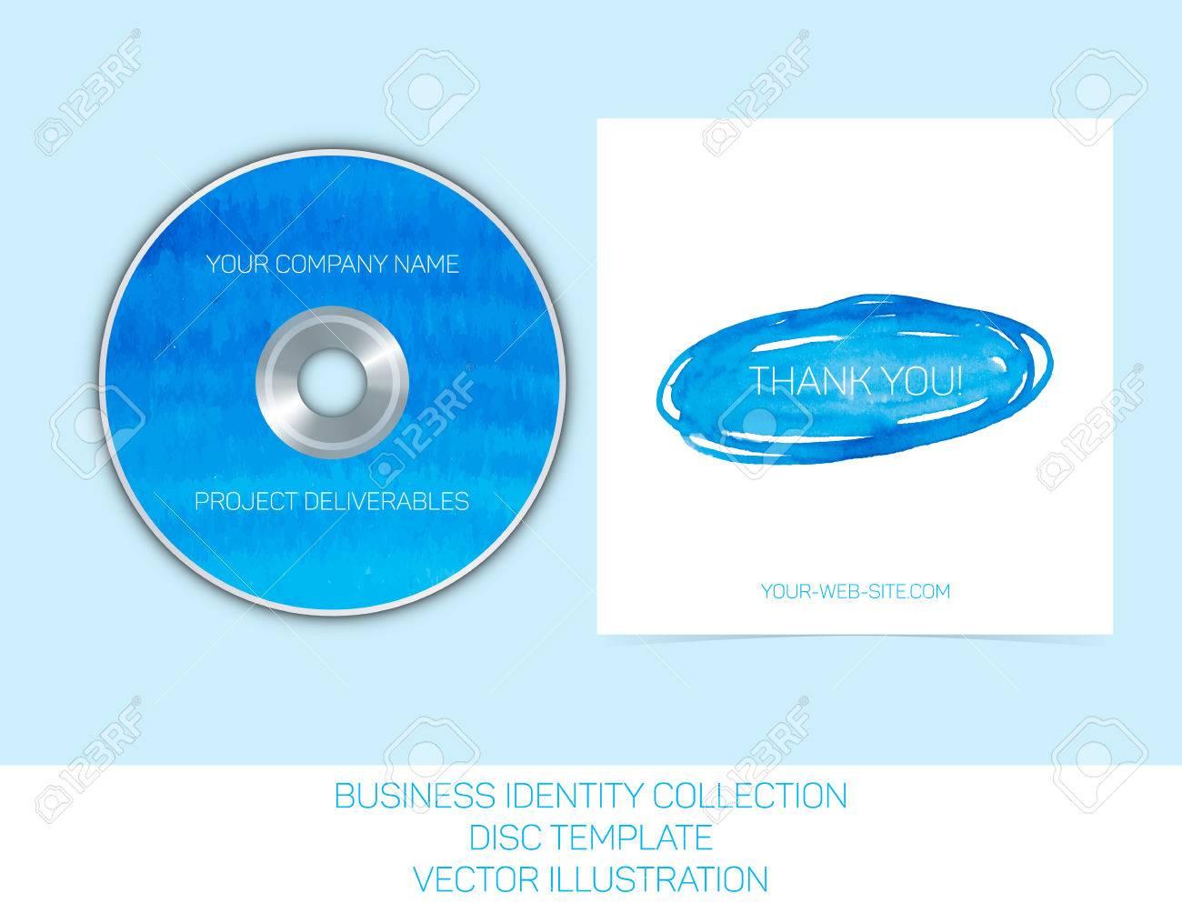 ビジネス アイデンティティ コレクション ブルーとターコイズ色の水彩画