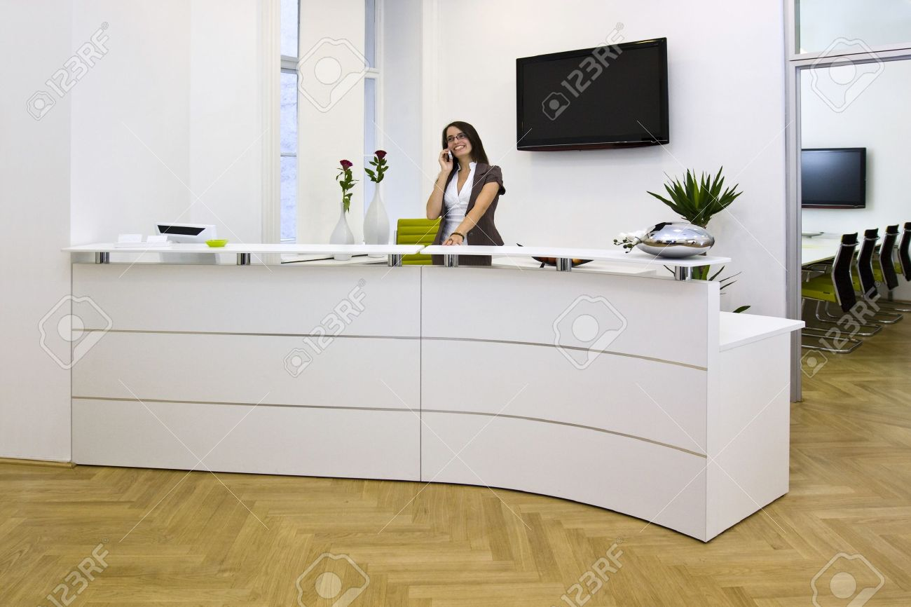 a front desk lady in the office Stock Photo - 20415257