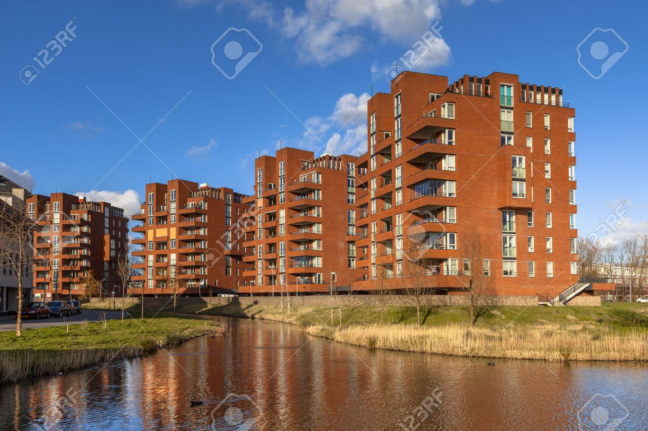 Retirement apartment condominium complex buildings in the city of Delft, Netherlands - 37191026