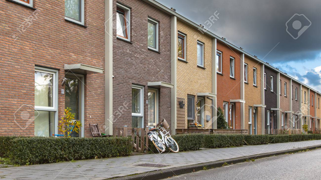 Modern Terra Colored Middle Class townhouses in the Netherlands, Europe - 46812542