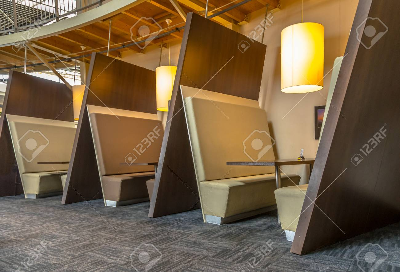 Modern Restaurant Booth Seats In Brown Shades Stock Photo Picture And Royalty Free Image Image 109541390