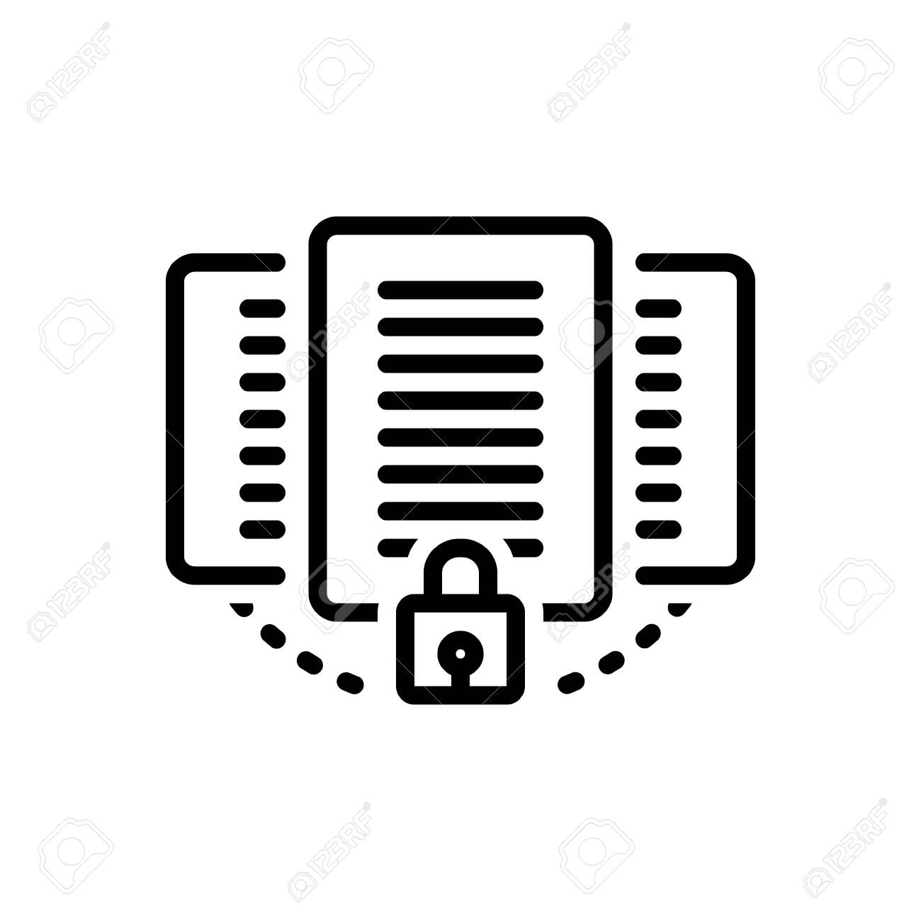 Icon for document,protection - 125806206