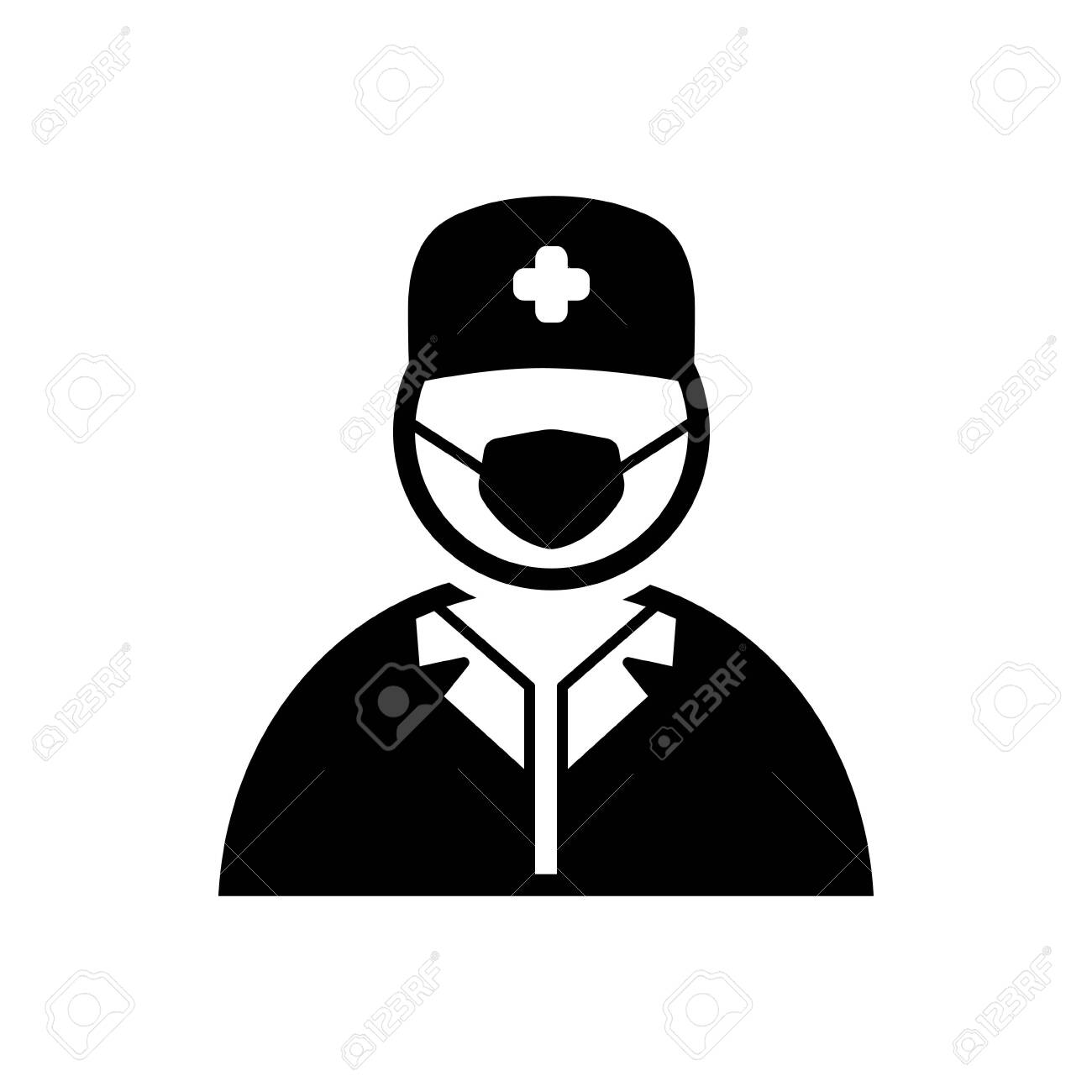 Surgeon Doctor Icon Royalty Free Cliparts Vectors And Stock Illustration Image 132398285