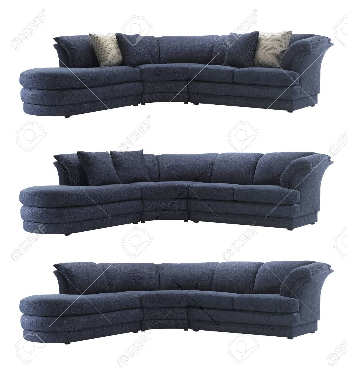 Super Big Blue Sofa With And Without Pillows Isolated On White Background Ocoug Best Dining Table And Chair Ideas Images Ocougorg