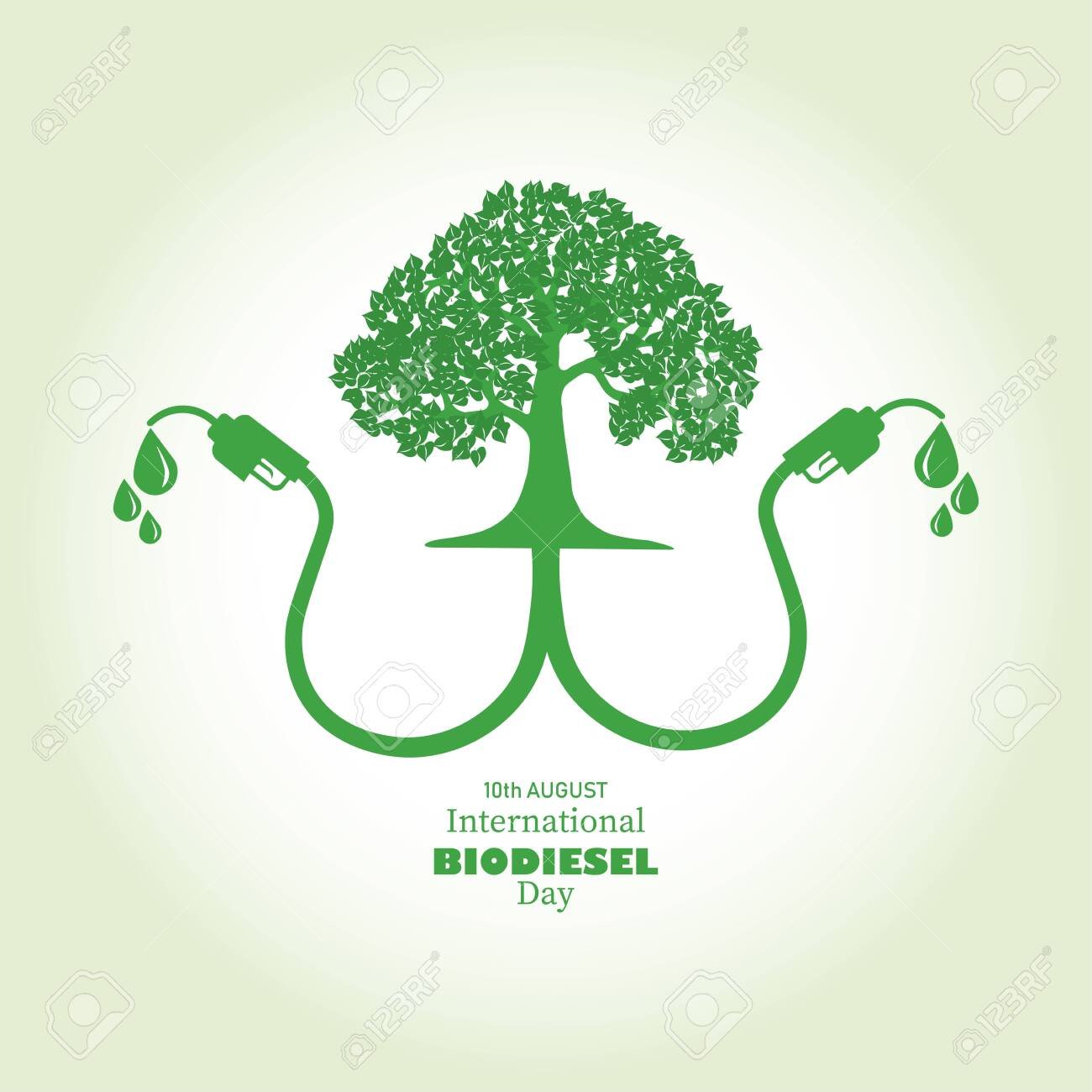 Vector Illustration of International Biodiesel Day which is observed on 10th of August. Abstract representation of a tree with Bio fuel and world map on background - 152187361