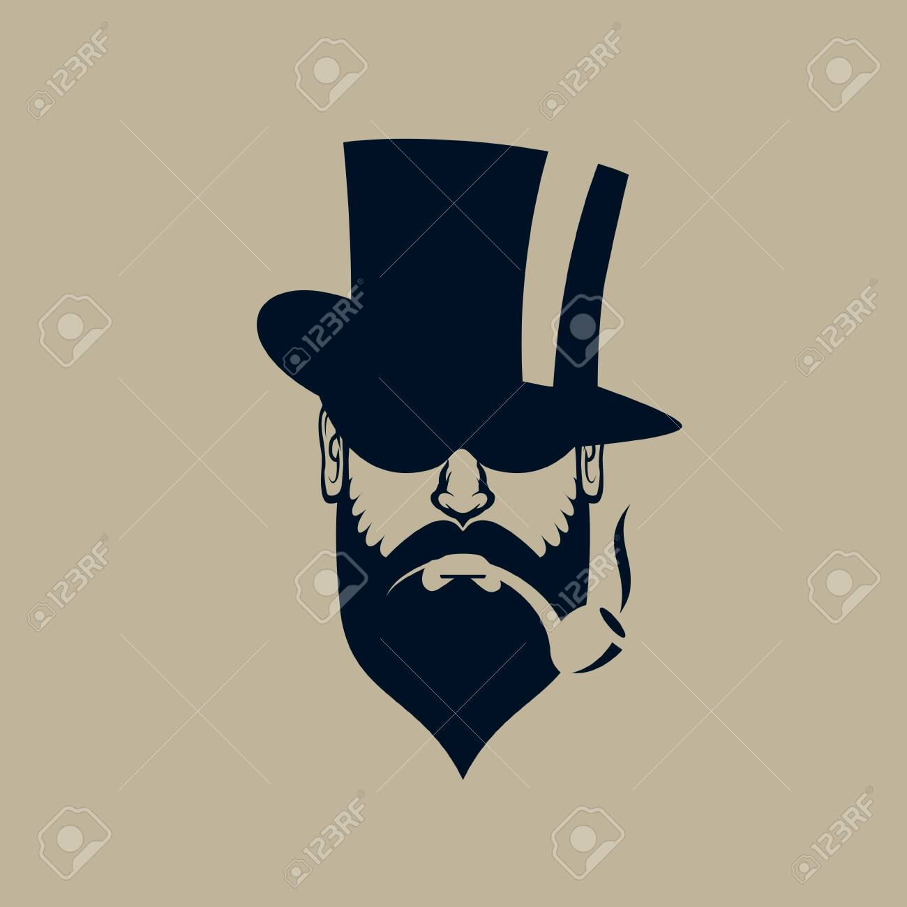 Gentleman Logo Vintage Simple Man Face Icon Royalty Free Cliparts Vectors And Stock Illustration Image 130158456