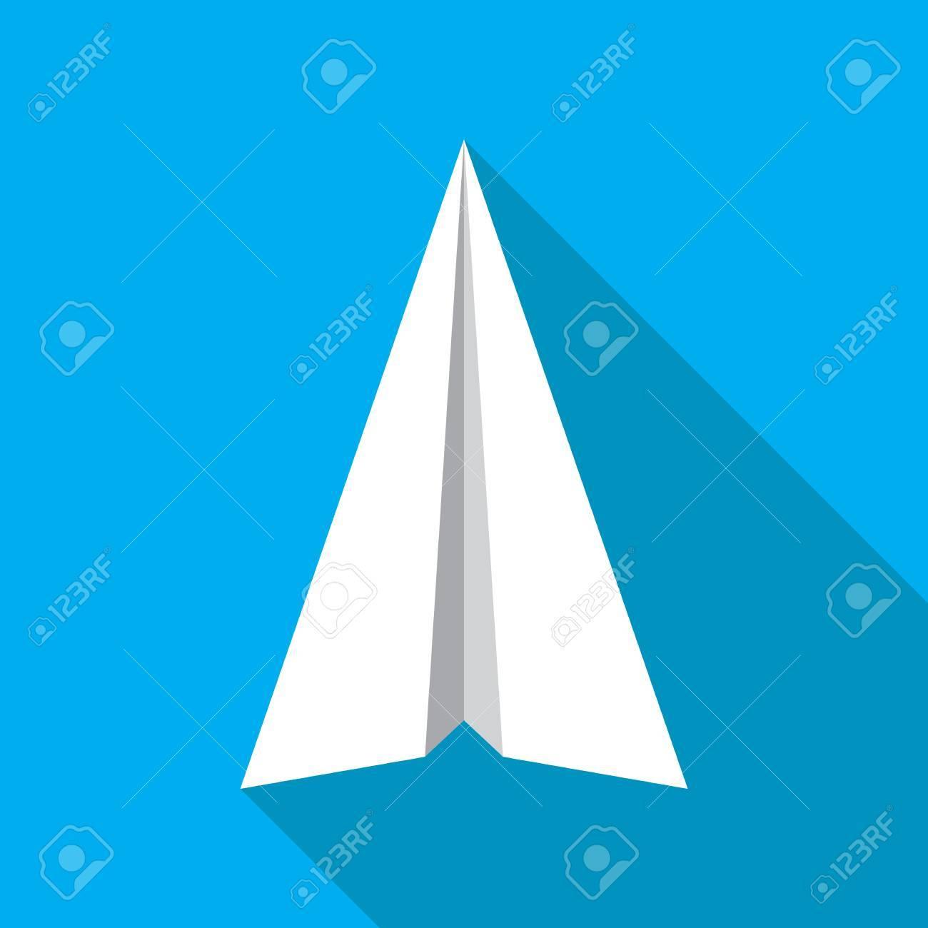 Plan De Papier De Navigation Signe Icône Plat Papier Origami
